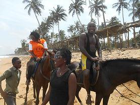 Journée de détente des éducateurs du Caillou Blanc maison d'accueil enfants infectés VIH Abidjan