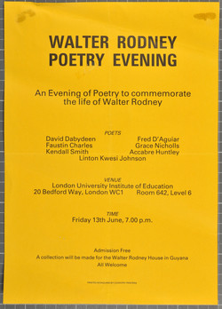_26 Walter Rodney Poetry Evening. c1980s. Huntley Archives at London Metropolitan Archives-Archive S
