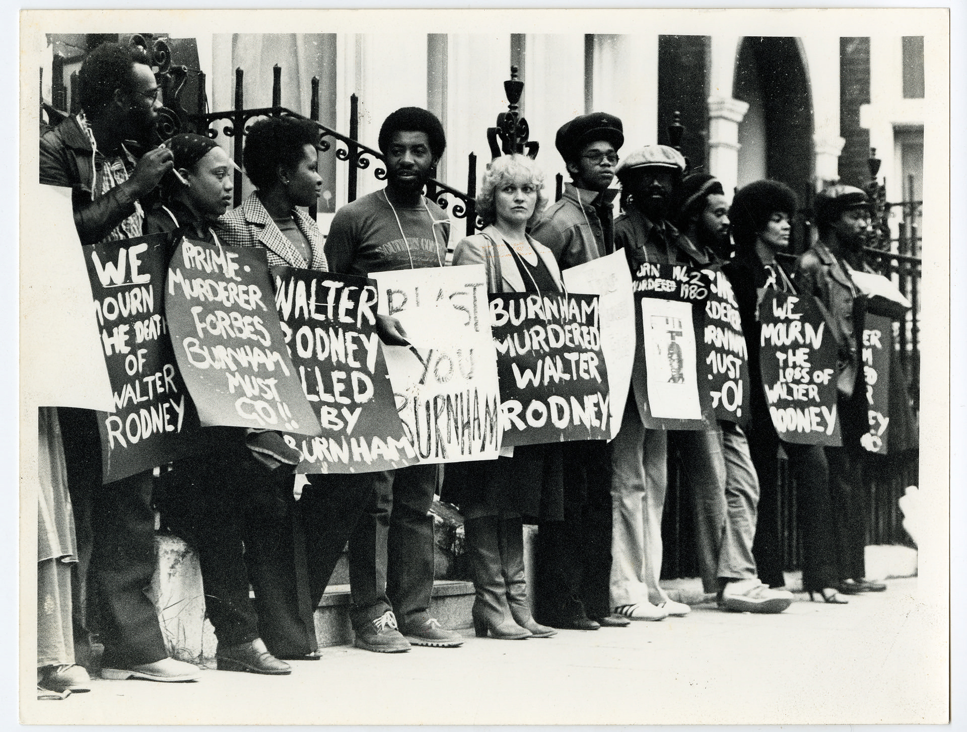 _15 Demonstration for Walter Rodney's murder, London c1980s. Huntley Archives at London Metropolitan