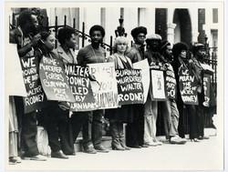 _15 Demonstration for Walter Rodney's murder, London c1980s. Huntley Archives at London Metropolitan