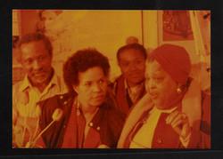 28 Ntozake Shange _ Louise Bennett (performing). Huntley Archives at London Metropolitan Archives_Ar
