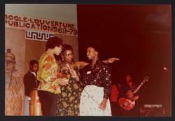 03 Carmen Munroe (middle) at Bogle-L'Ouverture Publications 10th Anniversary event. 1979. Huntley Ar