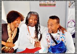 20 L to R - Margaret Busby, Jessica Huntley _ Anom Saba Saakana (publishers). c2000s. Huntley Archiv