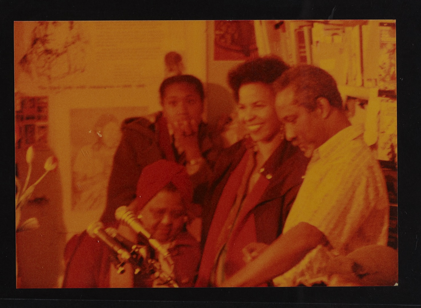16 L to R - Louise Bennett (seated), Ntozake Shange _ Eric Huntley. Huntley Archives at London Metro