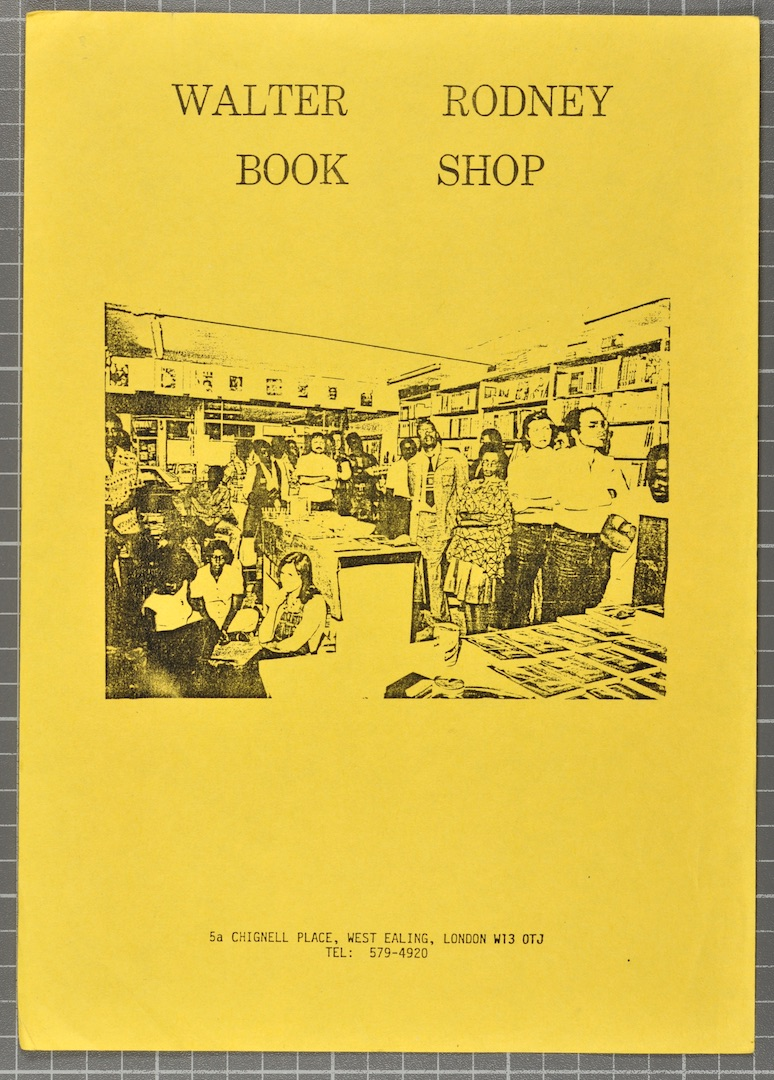 05 Walter Rodney Bookshop (leaflet). c1980s. Huntley Archives at London Metropolitan Archives_Archiv