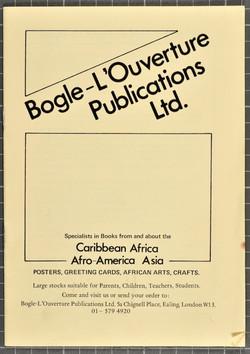 01 Bogle-L'Ouverture Publications (catalogue). c1970s. Huntley Archives at London Metropolitan Archi