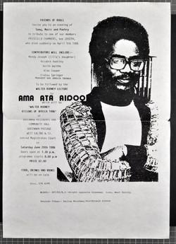 _27 Friends of Bogle-Tribute to Priscelle Chambers _ Walter Rodney Lecture (Ama Ata Aidoo). 28th Jun
