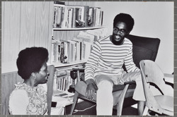 _05 L to R-Jessica Huntley _ Walter Rodney at 141 Coldershaw Rd. c1960s. Huntley Archives at London
