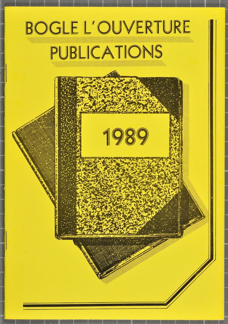 07 Bogle-L'Ouverture Publications (catalogue). 1989.  Huntley Archives at London Metropolitan Archiv