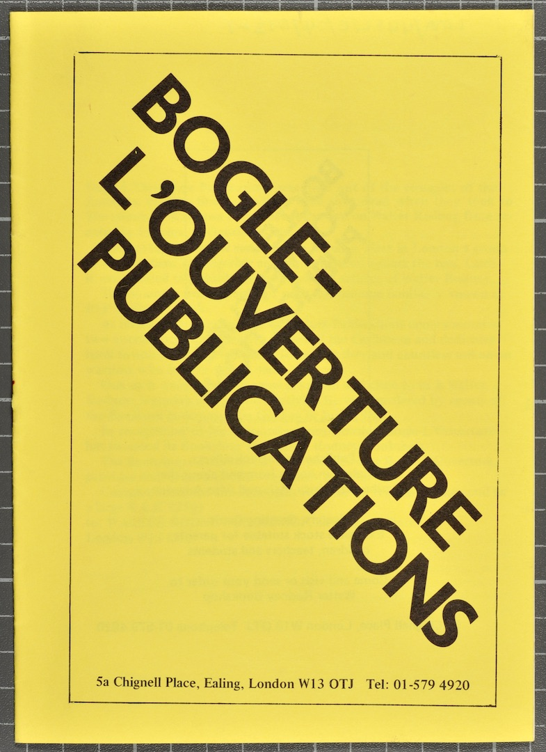 03 Bogle-L'Ouverture Publications (catalogue). c1970s. Huntley Archives at London Metropolitan Archi