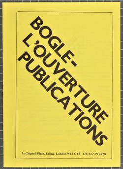 03 Bogle-L'Ouverture Publications (catalogue). c1970s. Huntley Archives at London Metropolitan Archi