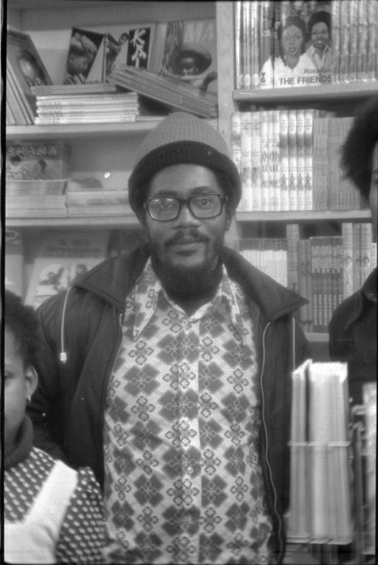 _09 Walter Rodney in Bogle-L'Ouverture Bookshop. c1970s. Huntley Archives at London Metropolitan Arc