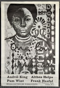 One Love-Audvil King, Athea Helps, Pam Wint, Frank Hasfal (poster illustration Errol Lloyd). Huntley