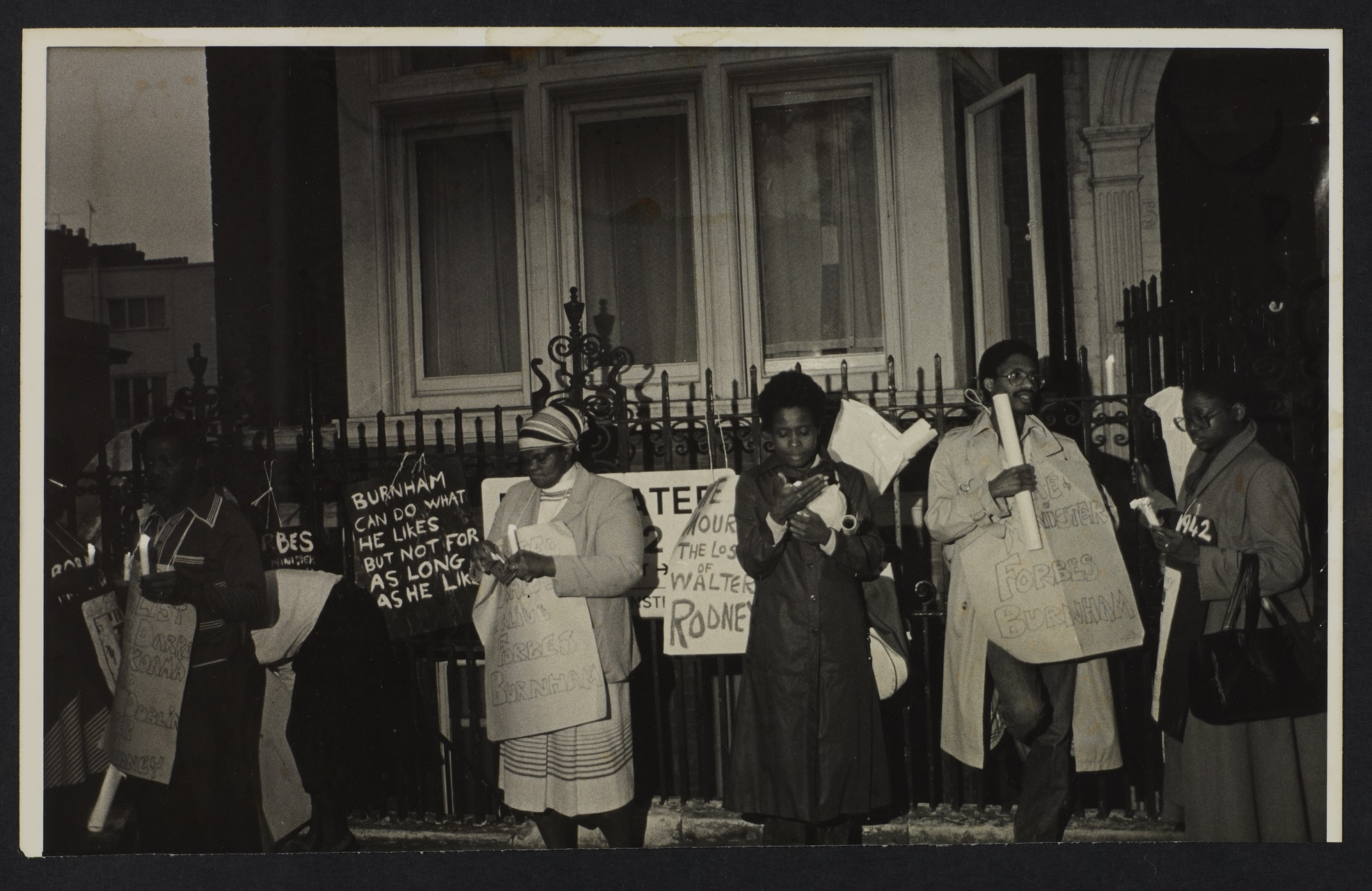 _19 Demonstration for Walter Rodney's murder, London c1980s. Huntley Archives at London Metropolitan