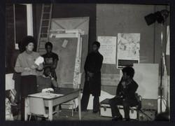 _04 Angela Davis (speaking). Huntley Archives at London Metropolitan Archives-Archives Series Ref-LM