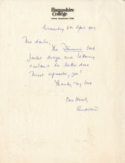 _10 Letter from Andrew Salkey to Jessica Huntley, 6th April 1983. Huntley Archives at London Metropo
