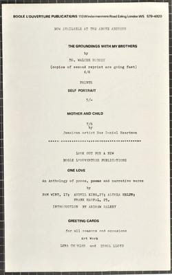 _04 Bogle-L'Ouverture Publications (leaflet). c1960s. Huntley Archives at London Metropolitan Archiv