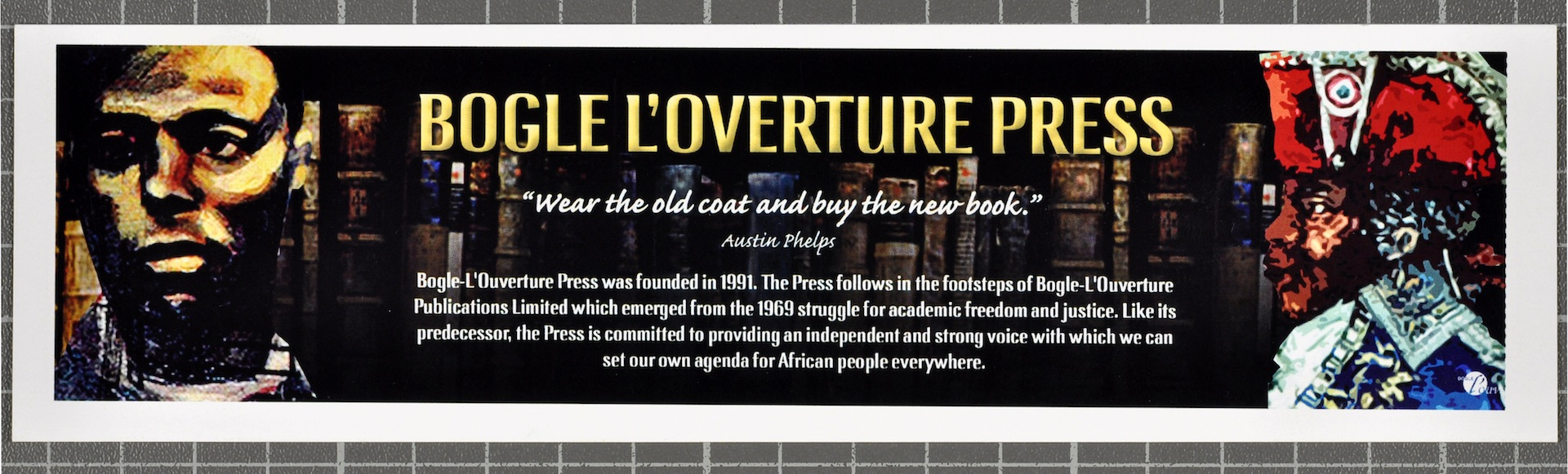 13 Bogle-L'Ouverture Press (flyer). c1990s. Huntley Archives at London Metropolitan Archives_Archive