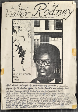 _11 Poster announcing Walter Rodney's Murder on 15th June 1980. Huntley Archives at London Metropoli