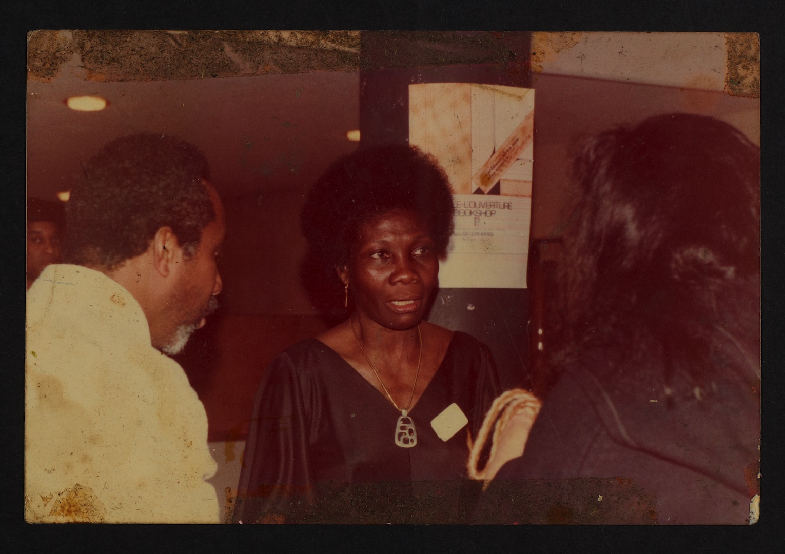 02 L to R - Eric Huntley _ Jessica Huntley at Bogle-L'Ouverture Publications event. c1970. Huntley A