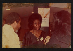 02 L to R - Eric Huntley _ Jessica Huntley at Bogle-L'Ouverture Publications event. c1970. Huntley A