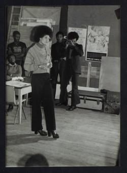 _05 Angela Davis (speaking). Huntley Archives at London Metropolitan Archives-Archives Series Ref-LM