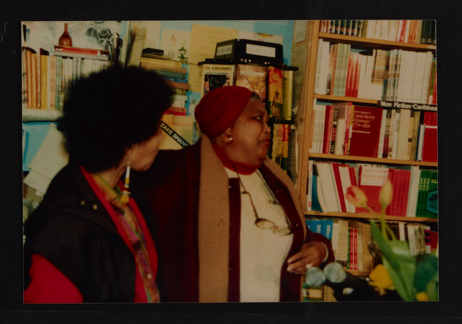 19 L to R - Ntozake Shange _ Louise Bennett  (performing). Huntley Archives at London Metropolitan A