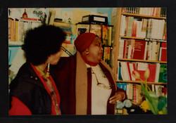 19 L to R - Ntozake Shange _ Louise Bennett  (performing). Huntley Archives at London Metropolitan A