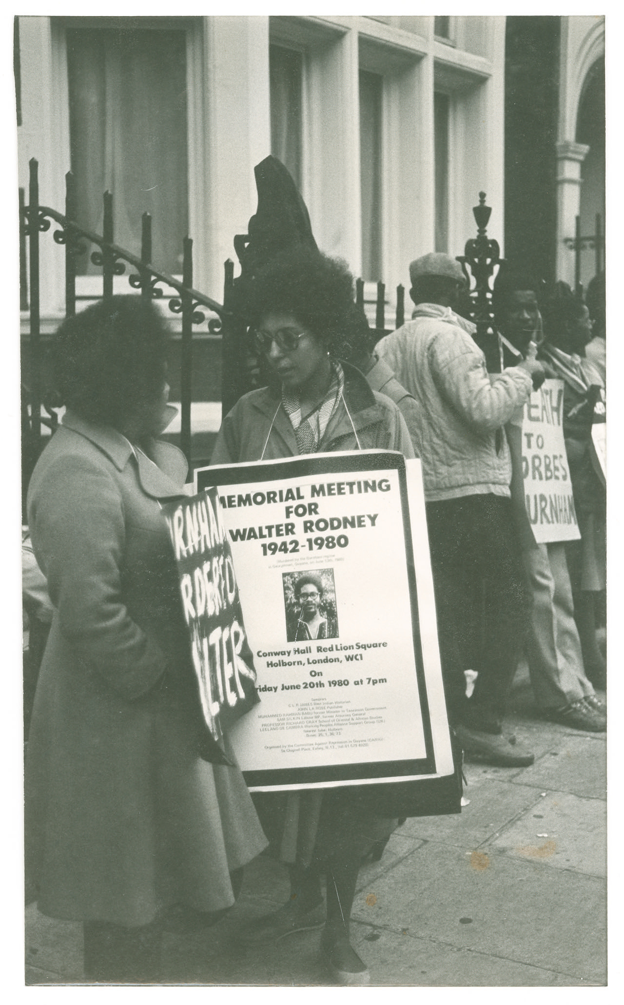 _16 Demonstration for Walter Rodney's murder, London c1980s. Huntley Archives at London Metropolitan
