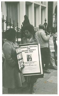 _16 Demonstration for Walter Rodney's murder, London c1980s. Huntley Archives at London Metropolitan