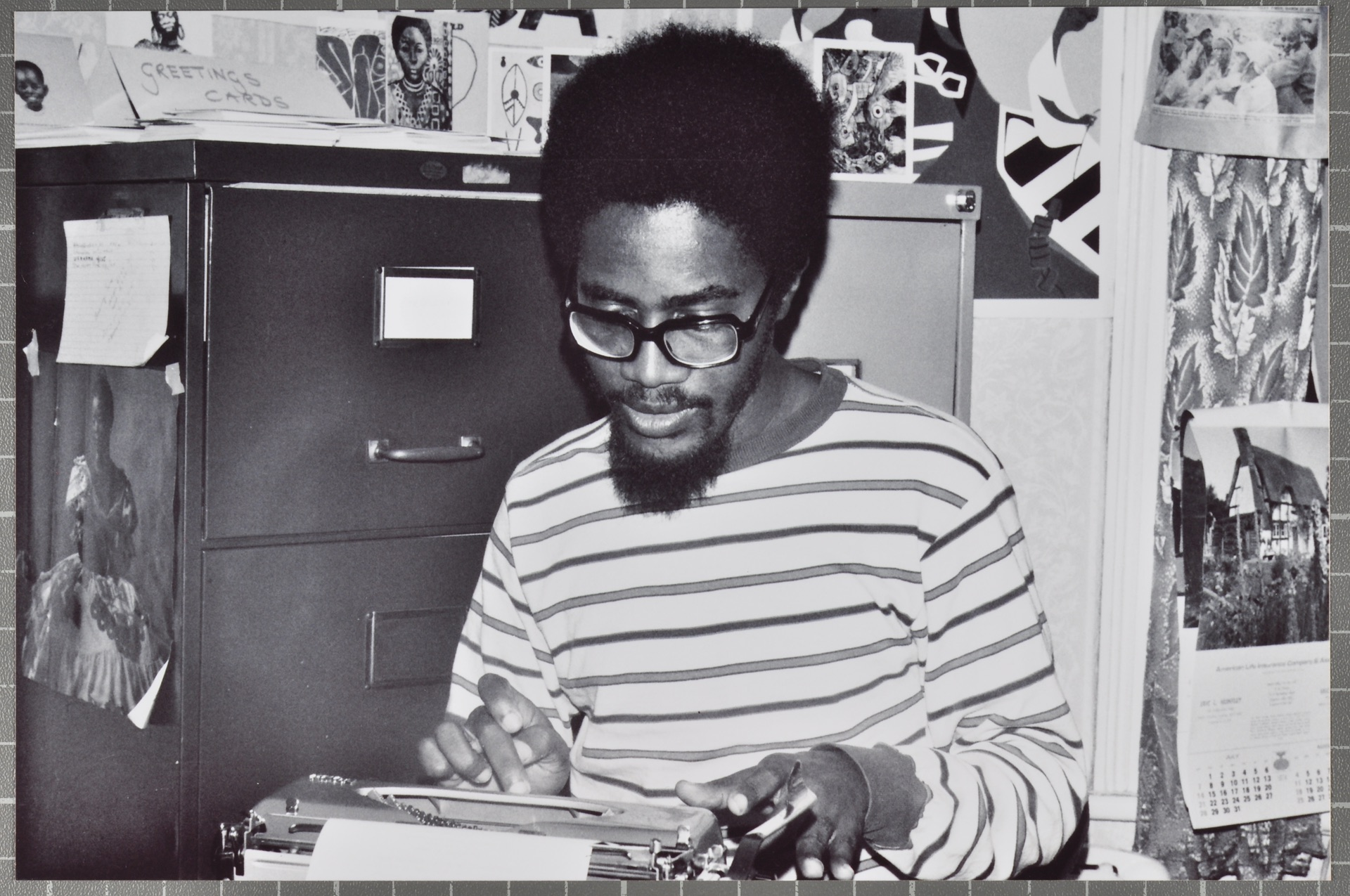 _03 Walter Rodney at 141 Coldershwaw Rd. c1960s. Huntley Archives at London Metropolitan Archives
