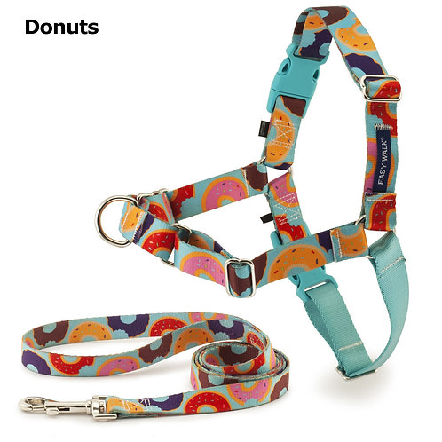 Donuts Easy Walk Chic Harness and Leash