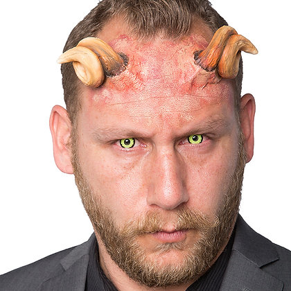 Curled Devil Horns Foam Prosthetic