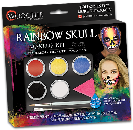 Rainbow Skull Makeup Kit