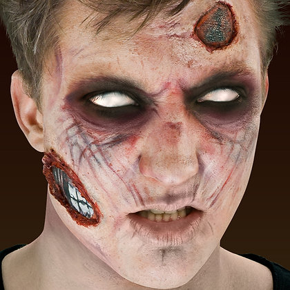 Zombie 3D FX Makeup Kit (Peel & Stick)
