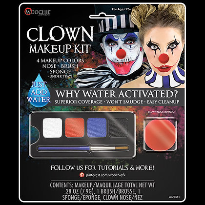 Clown Makeup & Accessory Kit