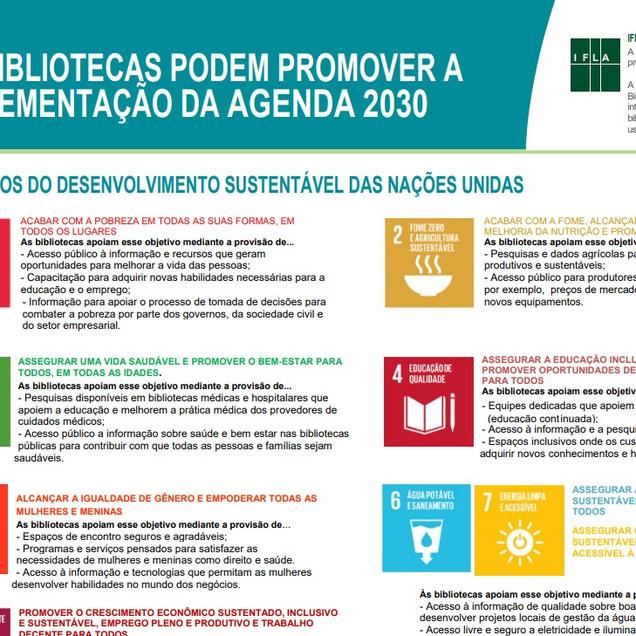 As bibliotecas podem promover a implementação da agenda 2030