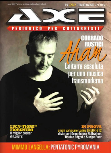 Axe Magazine Cover for Aham