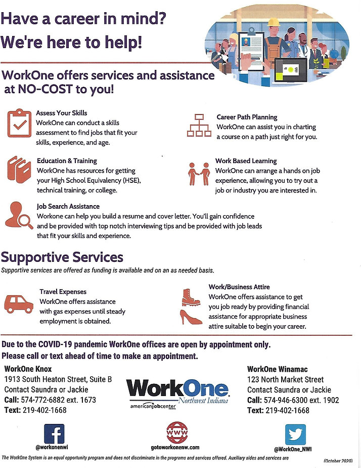 WorkOne Appt Only WO KnoxWIn Supp Serv 1