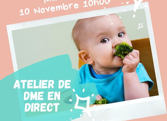 Atelier DME en ligne 10 novembre 10h00 donné en direct