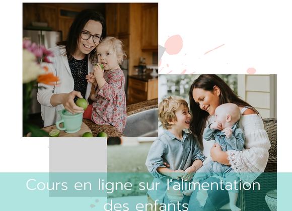 Cours en ligne Loulou mange de tout - Alimentation des enfants