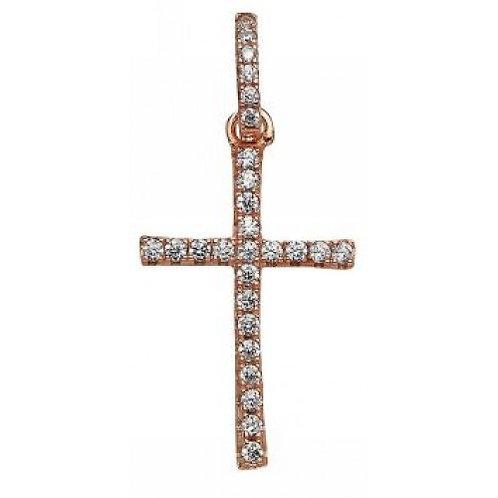 Galaxia Rose Gold Vermeil Cross Pendant