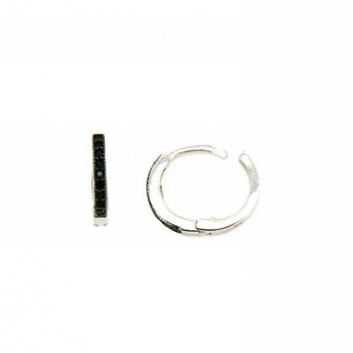 Andromeda Sterling Silver & Black CZ Earrings