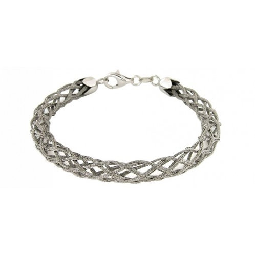 Pluton Sterling Silver Mesh Bracelet
