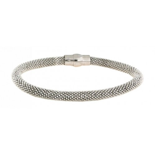 Jupiter Sterling Silver Mesh Bracelet - Silver