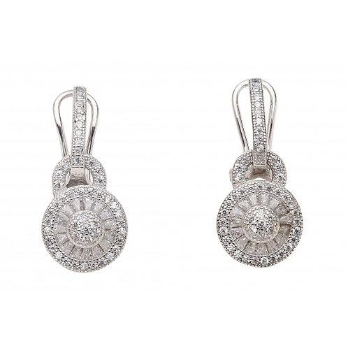 Galaxia Sterling Silver CZ Baguette Earring