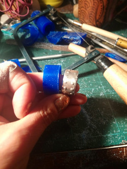 Ring wax carving
