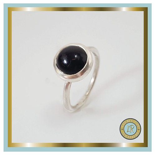 ONYX 10mm Cabochon Stacking Ring