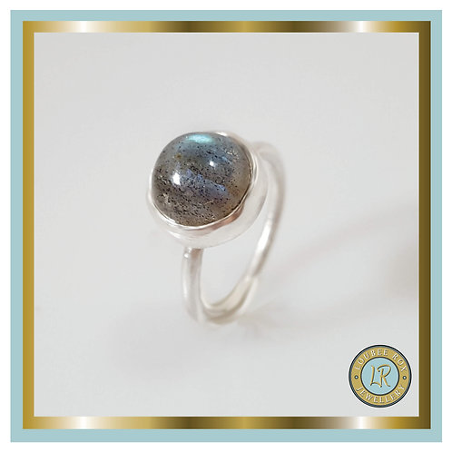 LABRADORITE 10mm Cabochon Stacking Ring