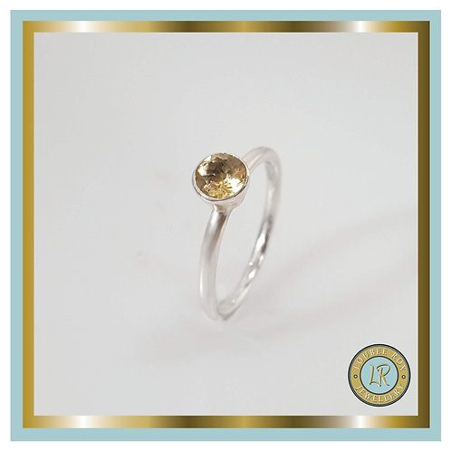 CITRINE Faceted Stacking Ring